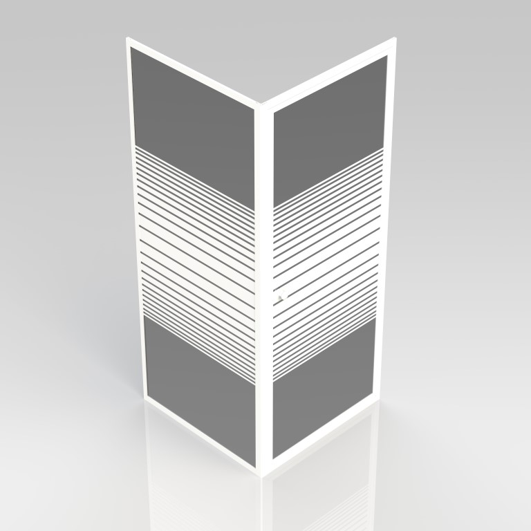 Pivot + fixed panel 80x80x190 - Frame aluminium white, glass with ...
